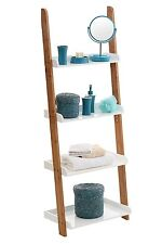 Nostra 4 Tier Ladder Shelf Unit Leaning Wall Display Bookshelf Bookcase Shelves
