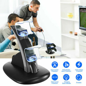 Fast Charging Stand Charger Dock Station Dual Controller For PlayStation PS4 UK