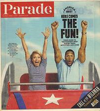 KELLY RIPA MICHAEL STRAHAN LIVE Parade Magazine 6/2/13 SUMMER FUN