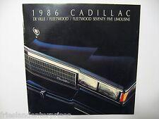 Cadillac 1986 DE Ville, Fleetwood, Fleetwood Seventy Five Limousine