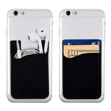 Universal Silicone Credit Card Holder Cell Phone Wallet Pocket Sticker Adhesive