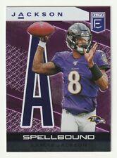 2020 Panini Elite Purple Spellbound 'A' Lamar Jackson Baltimore Ravens /75 #27
