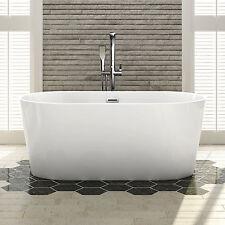 Bathroom Freestanding Bath Tub Sanitary Grade Acrylic Gloss White-1500x800x860mm