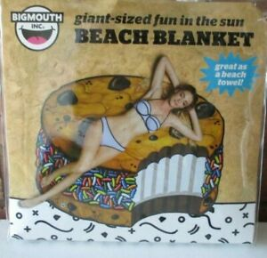 Bigmouth Inc Giant Sized Large Beach Blanket Towel - Ice Cream Cookie -