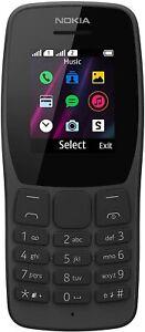 Nokia 110 TA-1319 GSM 2G ONLY Factory Unlocked Dual SIM Radio FM Black