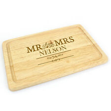 Personalised Wedding Gift or 5th Anniversary Present (Wood) Chopping Board