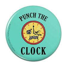 Punch The Clock Funny Humor Pinback Button Pin