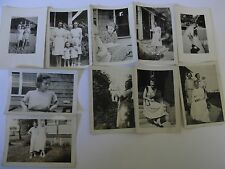 Vintage B/W Photo Lot 10 Pictures of Women Pretty Ladies (Group 1)