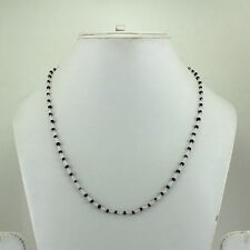 NECKLACE NATURAL BLUE SAPPHIRE GEMSTONE BEADED 925 SOLID STERLING SILVER 6 GRAMS