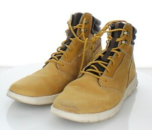 Q22 $100 Men's Size 10 Timberland Graydon Leather High Top Sneaker In Wheat