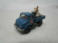 Wiking Plastic Car *BLUE UNIMOG TRUCK* 1:87 HO SCALE  Made In W. Germany