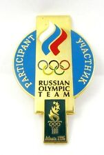 ATLANTA 1996 OLYMPICS RUSSIAN OLYMPIC TEAM PARTICIPANT PIN OFFICIAL BADGE