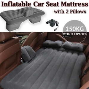 Inflatable Car Back Seat Mattress Portable SUV Travel Camping Soft Rest Air Bed