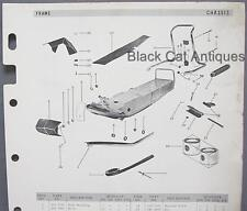 1969 Bombardier Snowmobile Parts List Frame/Body/Chassis Models 300 320 320E 370