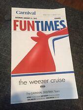 Weezer Cruise 2012 FunTimes Schedule
