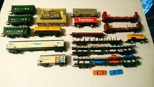 Lima Fleischmann Märklin etc HO Train Lot of Freight Cars & Passenger Cars
