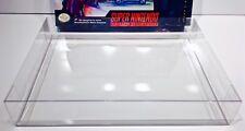 1 SNES LETHAL ENFORCERS BIG BOX Protector!  Super Nintendo Clear Display Case