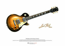 Slash's 1959 Gibson Les Paul ART POSTER A3 size