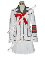 Vampire Knight Class Girl Kurosu Yuuki White Uniform Halloween Cosplay Costume