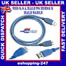 New 2.5M USB 3.0 Lead Type A Male to B Micro Sync Data Power HDD Blue Cable