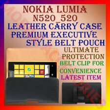 ACM-BELT CASE for NOKIA LUMIA 520 MOBILE LEATHER CARRY CASE POUCH COVER PROTECT