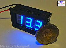 Voltimetro digitale 3-30V LED BLU [voltometro voltmeter kfz battery panel meter