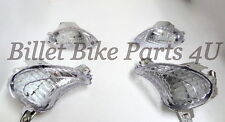 Suzuki Hayabusa 08-Up Clear LED Front & Rear Turn Signals Factory Replacements