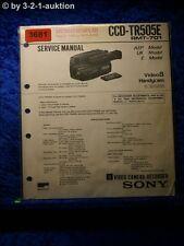 Sony Service Manual CCD TR505E (#3681)