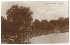 MALDON Marine Lake, Essex, RP Postcard Unused