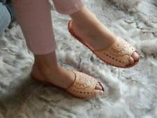 Women Leather beige summer shoes