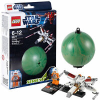 LEGO Star Wars 9677 X-Wing Starfighter Raumschiff Pilot Yavin 4 Planet Kugel