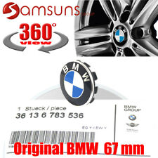 1xORIGINAL BMW Alufelgen Naben kappen deckel Radzierkappe Blende mit Emblem 67mm