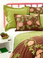 Pine Cone Hill Edelweiss Crewel Coco Twin Size Duvet
