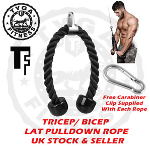 TYGA FITNESS TF Triceps Biceps Lat Pulldown Rope Multigym Home Cable Attachment