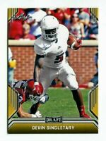"Devin Singletary 2019 Hoja Draft "" 1ª Ever Estampada Oro Carta Rookie! Fau Owls"