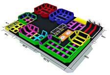 8,000 sqft Commercial Trampoline Park Turnkey Game Climb Gym Ninja We Finance