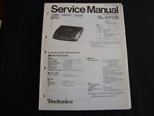 ORIGINALI service manual TECHNICS sl-xp330