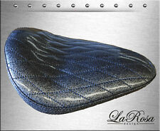 "13"" La Rosa Dark Grey Metallic Diamond Stitch Harley Chopper Bobber Solo Seat"