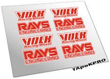 Brand New Custom Volk Rays TE37 wheels glossy stickers kit decals pack set