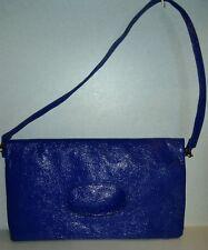 Split Royal Blue/Periwinkle Handbag Purse Versatile Clutch/Tote/Shoulder (c20)