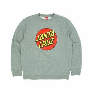Santa Cruz Classic Dot Crew Sweatshirt - Dark Heather