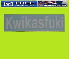 KWIKASFUKI Decal Sticker Kawasaki ZX10R ZX6R ZX9R ZX14R NINJA