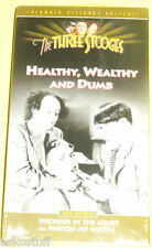 The Three Stooges - Healthy, Wealthy & Dumb NEW sealed VHS Nice See!