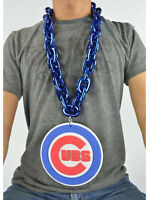 New MLB Chicago Cubs Navy Blue Fan Chain Necklace Foam Magnet - 2 in 1