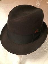Amazing Vintage Knox Custom Men's Fedora Hat Size 6 3/4 21 Inch Charcoal Gray