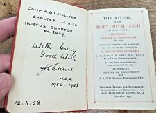 1957 THE RITUAL OF THE HOLY ROYAL ARCH - NIGERIA - MASONIC POCKET BOOK (142)