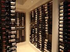 """Steel """"Strip"""" Wine Storage Rack - 24 bottles per wall rack"""