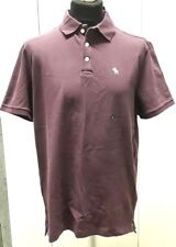 Abercrombie & Fitch Relaxed Fit Icon Polo Shirt Plum Purple - XL