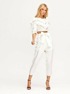 NEW ALICE MCCALL A FOREIGN AFFAIR PANTS  - WHITE | PORCELAIN SIZE 14 - RRP $295