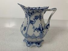 Royal Copenhagen Blue Fluted Full Lace Creamer with Face Handle 1032